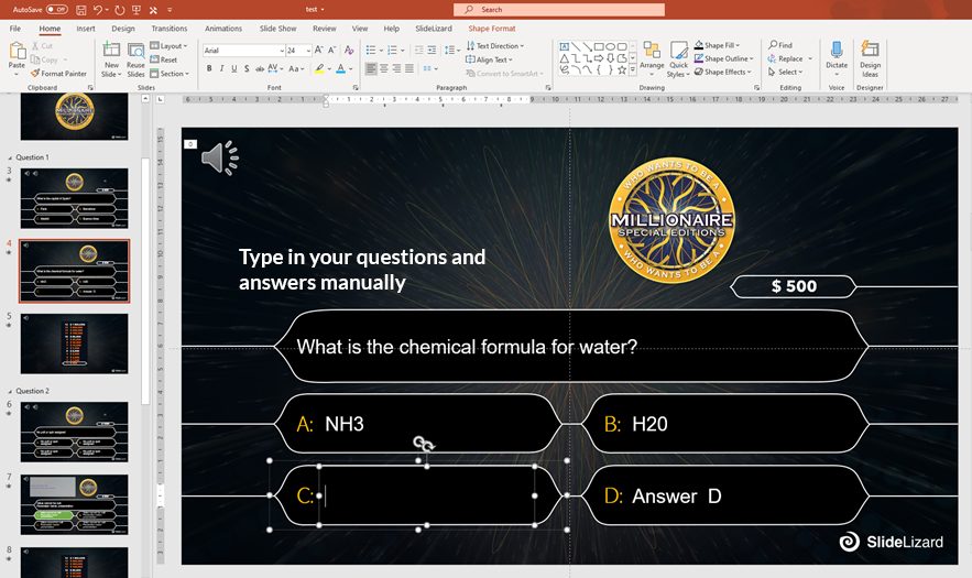 Who Wants To Be A Millionaire Powerpoint Template Slidelizard