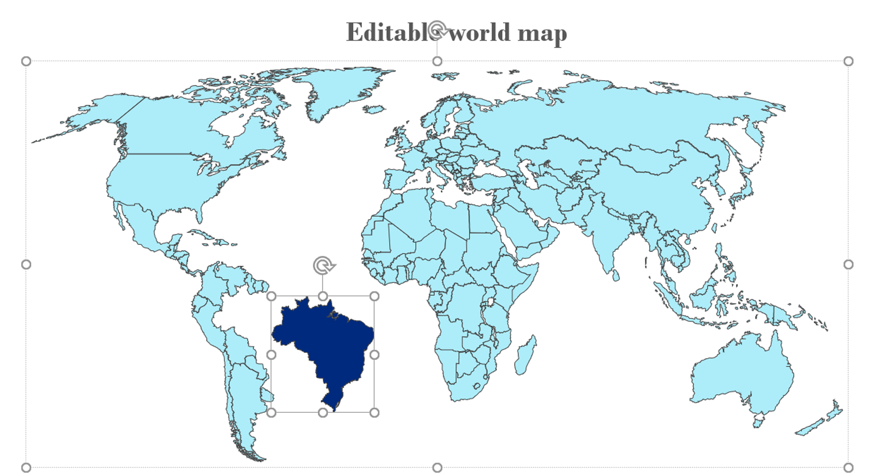 Editable Country World Maps For Powerpoint 2020 Slidelizard