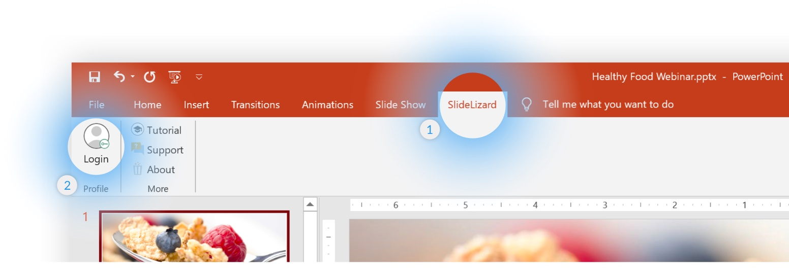 SlideLizard PowerPoint Plugin Ribbon