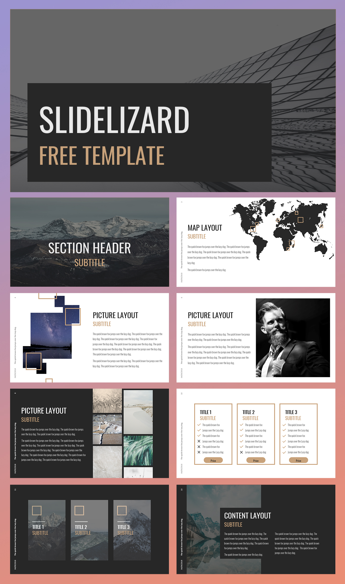 Elegant Architecture Free Powerpoint Template Slidelizard